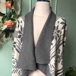 Express asymmetrical gray cardigan shrug